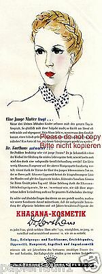 Khasana Kosmetik Reklame 1941 Mutter Julija Timoschenko  Dr. Korthaus Frankfurt