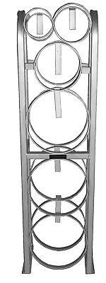 Refrigerant Cylinder Tank Rack 3-30 Lb 1-mc 1-r-oxy 1-nit 004791