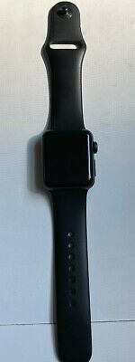 Apple Watch Series 2 38mm Aluminum Case Black Sport Band