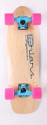 """Natural 27"""" x 8"""" Cruiser Mini Skateboard Longboard"""