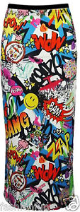 NEW-WOMENS-LADIES-COMIC-CARTOON-GRAFFITI-LONG-ELASTICATED-WAIST-MAXI-SKIRT-DRESS