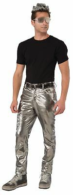 Silver Futurisitic Mens rocker 80s Pants Costume
