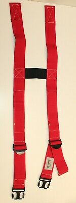 Firefighter Suspenders Red Padded H Style Inno Tex Rwp-t Turnout Gear Nos Blue