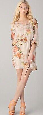 Graham And Spencer Sundance Silk Floral Dress Anthropologie Medium