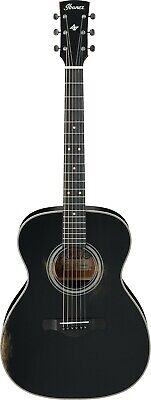 Ibanez AVC11ABK Artwood Vintage Acoustic Guitar Antique Black Semi-Gloss for sale  East Northport