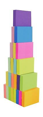 4a 301x24 Sticky Notes 1 12x2 Small Size Paper 100 Sheets 24pads Neon Assorted