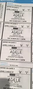 4 x Adele tickets Melbourne March 18th Brunswick West Moreland Area Preview