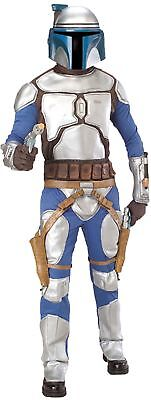Jango Fett Kinder Kostüm Star Wars Film Blau & Grau Overall Kostüm