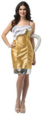 Beer Mug Dress Adult Women's Costume Halloween Fancy Dress Rasta Imposta - Beer Mug Costumes