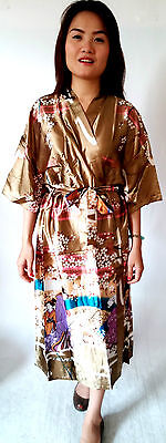 Asia Miss Damen Kimono Geisha Morgenmantel/Bademantel viele Farben Einheitsgröße