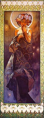 1900 - Mucha Stardress Vintage French Nouveau France Poster Print Advertisement (Mucha Vintage Poster)