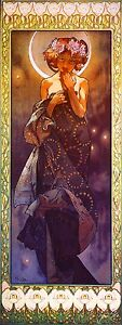 1900 - Mucha Stardress Vintage French Nouveau France Poster Print Advertisement