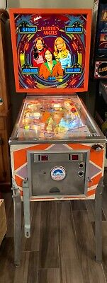 Gottlieb 1978 Charlie's Angel Pinball Machine Vintage w/ Manual & Original Flyer