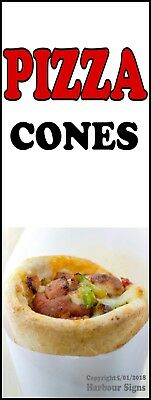 Pizza Cones Decal Choose Your Size Food Truck Concession Sticker