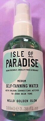 ISLE OF PARADISE Self-Tanning Water ~ MEDIUM ~ 3.38 oz ~ Deluxe Travel Size NEW!