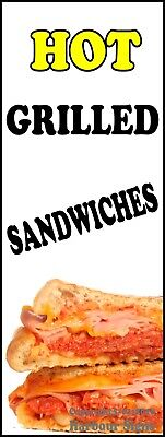 Hot Grilled Sandwiches Decal Choose Your Size Food Truck Concession Sticker