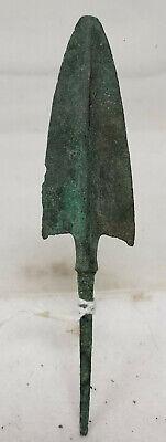 Antique Early Greek Roman Antiquity Hellenistic Arrow Head Point Bronze Spear