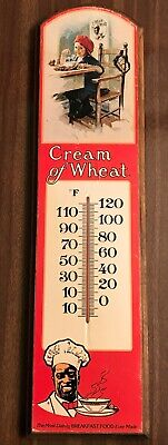 Vintage 1984 Cream Of Wheat Nabisco Brands Advertising Wood Sign w/ Thermometer