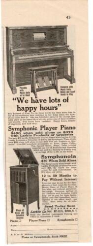 1915 ORIGINAL VINTAGE SYMPHONIC PLAYER PIANO MAGAZINE AD (M)