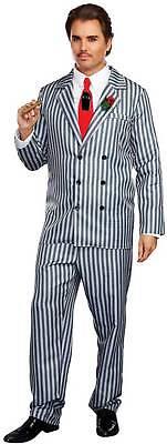 Mr Men Halloween Costumes (Dreamguy Mr. Fright Men's Adult Halloween Costume Gangster Mob Boss)