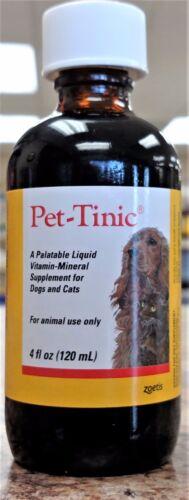 Pet-Tinic 4 oz Liquid Vitamin-Mineral Supplement for Pets Pfizer