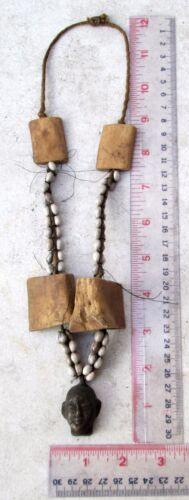 VINTAGE Nagaland Bronze Warrior Head Hunter Necklace