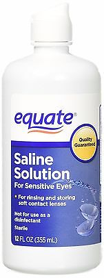 Equate Contact Lens Saline Solution For Sensitive Eyes  12 Fl Oz  1 Bottle