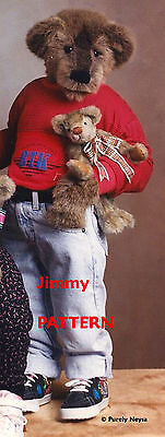 """Mohair or Plush """"Jimmy""""  a Bear PATTERN by Neysa A. Phillippi of Purely Neysa"""