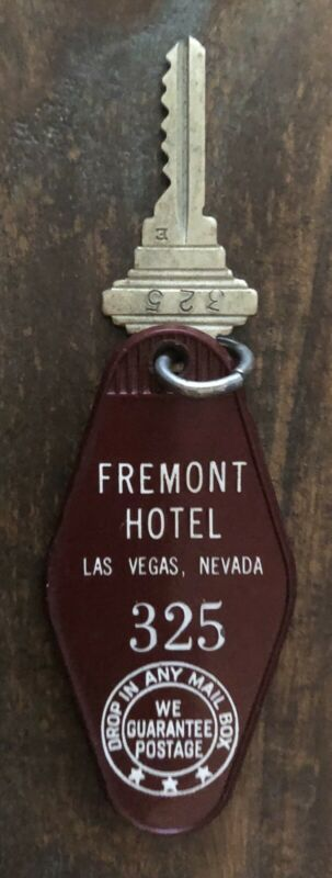 Vintage Fremont Hotel & Casino Room Key, Las Vegas Nevada, #325, Circa 1970