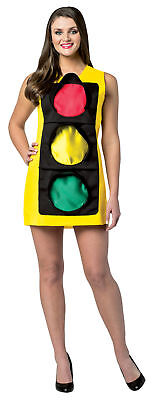 Traffic Light Dress Adult Women's Costume Tunic Halloween Dress Up Rasta Imposta](Traffic Light Halloween Costume)