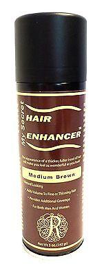 My Secret Hair Enhancer Spray Medium Brown for thinning hair loss 5 oz.