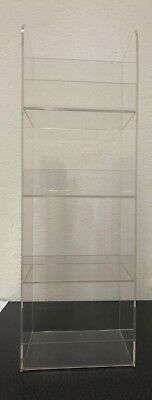 Acrylic Counter Top Display Case 4 Tier Cell Phone Accessories 18 X 6 X 5