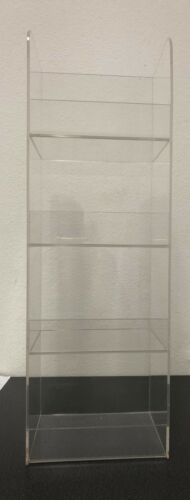 """Acrylic Counter top Display Case 4 Tier Cell Phone Accessories 18"""" x 6"""" x 5"""""""