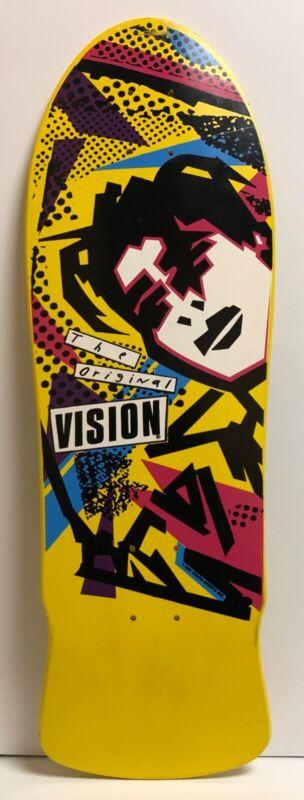 Vision Original Skateboard Deck - Mark Gonzales 1986 Shape - Yellow Paint Natas