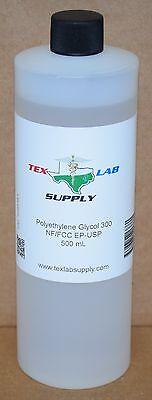 Tex Lab Supply Polyethylene Glycol 300 Peg 300 Nf-fccep-usp 500 Ml