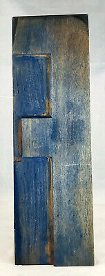 Vintage Wood Letterpress Print Type Printers Block Letter F. 10 Patina