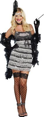 Speak Easy Vixen Womens Costume Adult Flapper 20s 1920s Showgirl Halloween](20s Showgirl Costume)