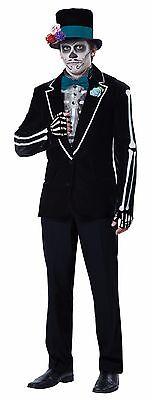 El Novio Muerto Day of the Dead Skeleton Groom Men Adult Costume - Skeleton Costumes For Men