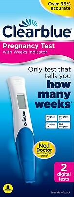 Clearblue Pregnancy Test Digital Weeks Indicator Over 99% Accurate - 2 Tests