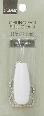 Tear Drop Ceiling Fan WHITE WOOD PULL w/ 11