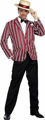 Good Time Charlie Adult Mens Costume 1920s 20s Red Striped Jacket Halloween - 1920s Mens Halloween Costumes