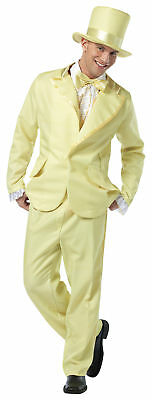 70s Funky Tuxedo Pastel Yellow Adult Mens Costume Cool Tux Theme Party Halloween