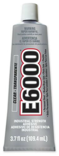 E6000 Glue Craft Clear INDUSTRIAL STRENGTH Adhesive 3.7 OZ Tube