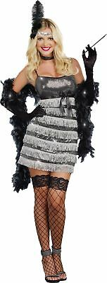 Speak Easy Vixen Women Costume Adult Flapper 20s 1920s Showgirl Halloween MEDIUM](20s Showgirl Costume)