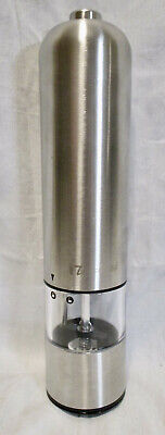 NEW iTouchless Stainless Steel Battery Operared PEPPER MILL