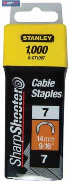 Stanley 1-CT109T  Kabelklammern CT100  14 mm  1000 St. für 6-CT-10
