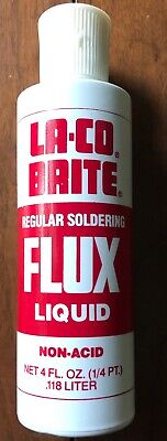 La-co Brite Regular Soldering Flux Liquid - Two 4 Oz. Containers
