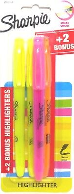Sharpie Highlighters Narrow Chisel Tip 4 Count Pack Pink Orange Yellow