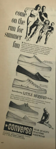 Converse Shoes Footwear Magazine Print Ad Vintage Oxford Basketball Fashion 1966