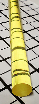 1 Pc 34 X 18 Inch Long Clear Yellow Translucent Acrylic Plexiglass Rod 19mm